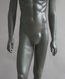 Maniqui hombre cabeza huevo Antracita (gris acero mate )-MEX-16