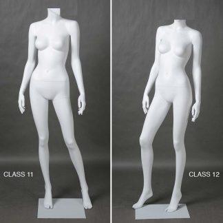 Maniqui mujer sin cabeza, color blanco mate