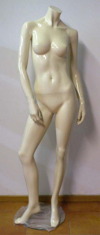 Maniquí mujer sin cabeza hueso brillante