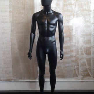 Maniquí Hombre cabeza Abstracta Negro mate