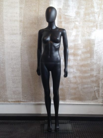 Maniquí mujer cabeza abstracta Negro mate