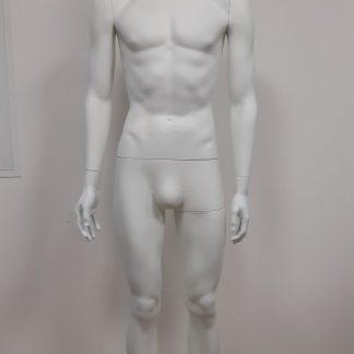 Maniquíes hombre cabeza abstracta, blanco mate lacados